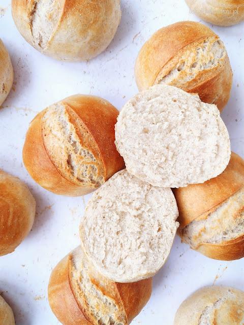 Śniadaniowe bułki pszenne na suchych drożdżach przepis