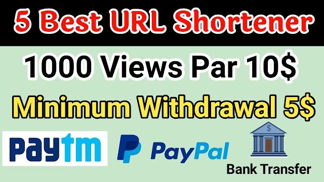 Top 5 Best Highest Paying URL Shortener 2020 in India