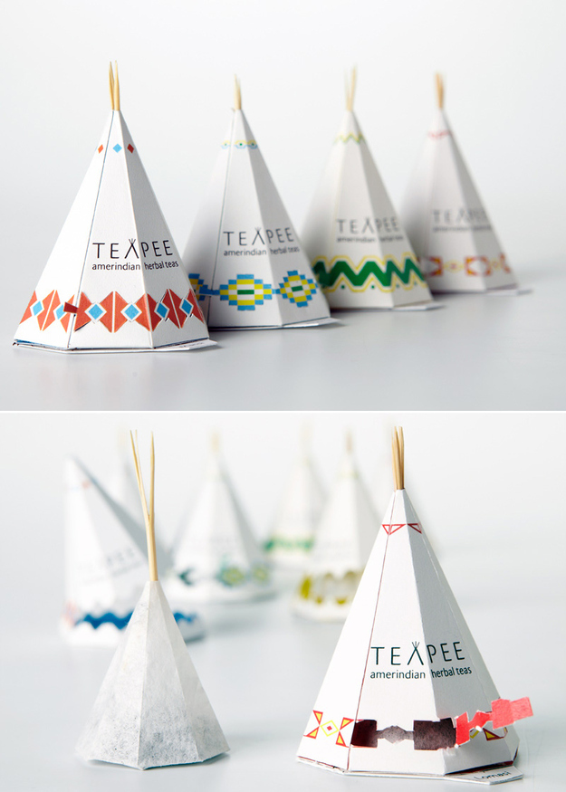 "Packaging creativo | Infusiones en ""tipis"""