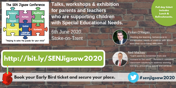 The SEN Jigsaw Conference 2020 with Neil Mackay and Fintan O'Regan