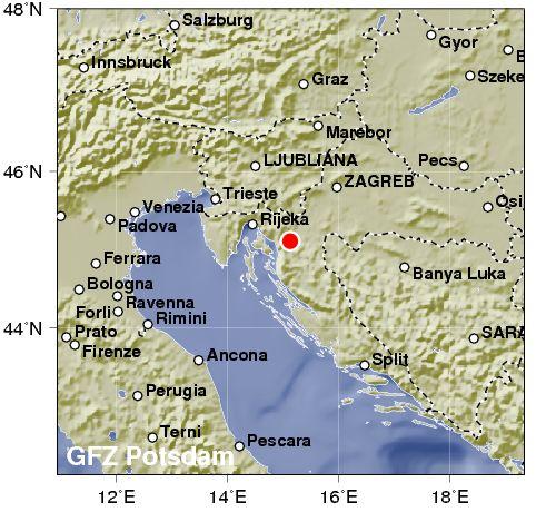 Kroatien Erdbeben