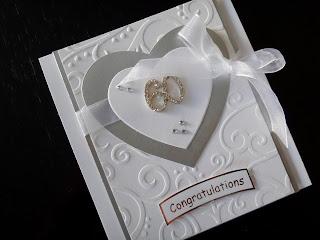 Hand made diamond wedding anniversary card with crystal numbers
