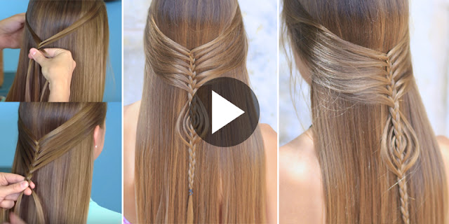 Learn - How To Create Easy Mermaid Braid Combo Hairstyle, See Tutorial