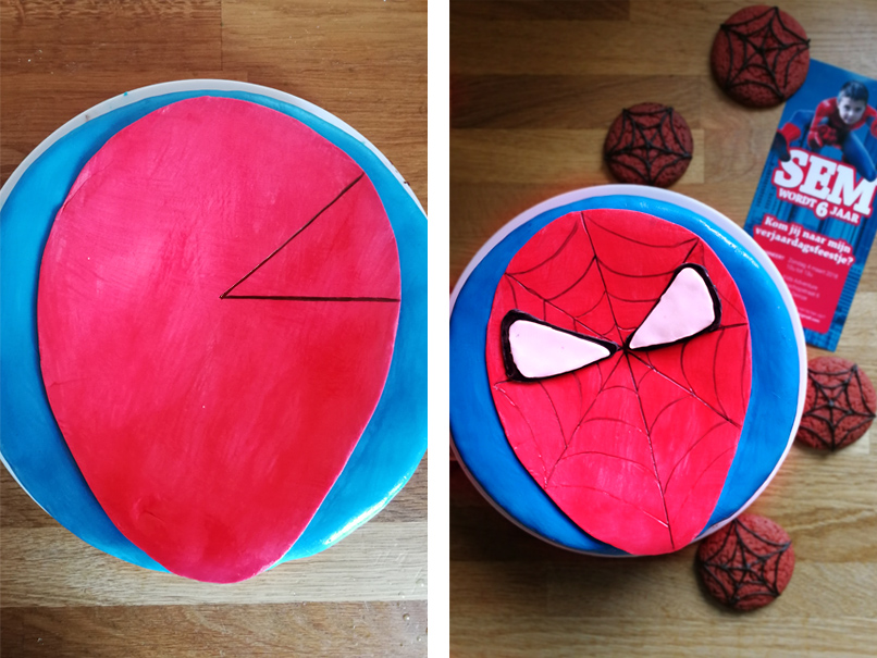 Hoe maak je een Spiderman taart