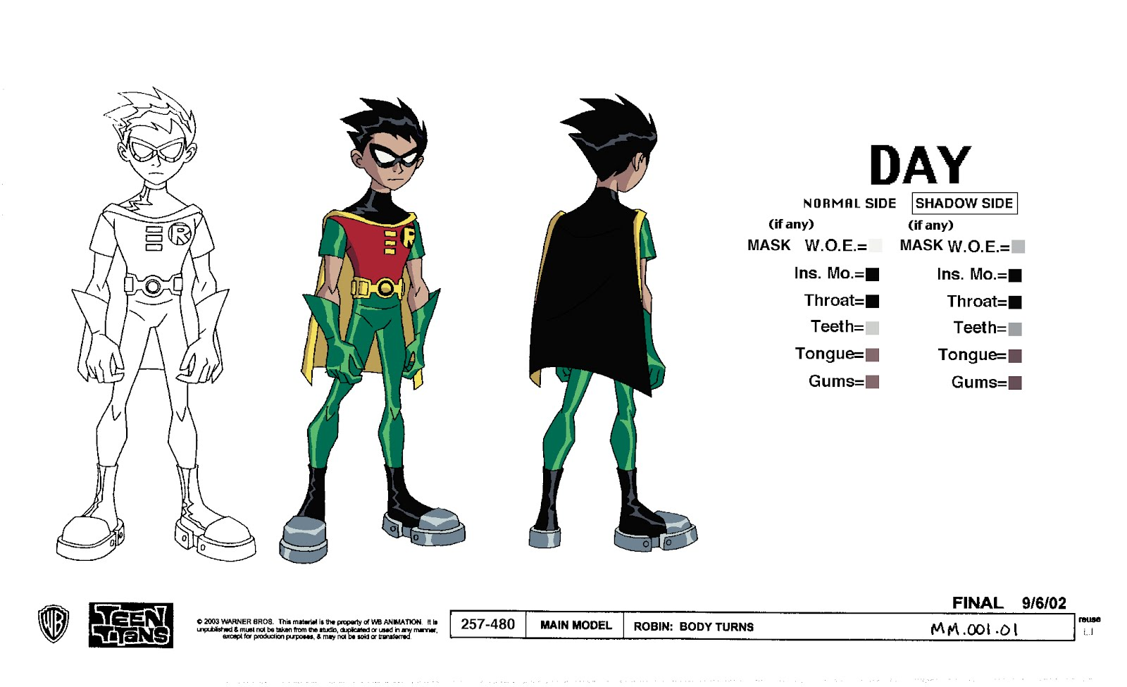 Cartoon Concept Design Teen Titans Models Sheets