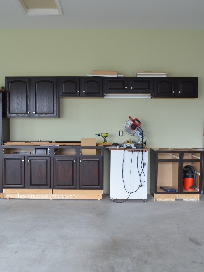 General Finishes Java Gel Stained Cabinets