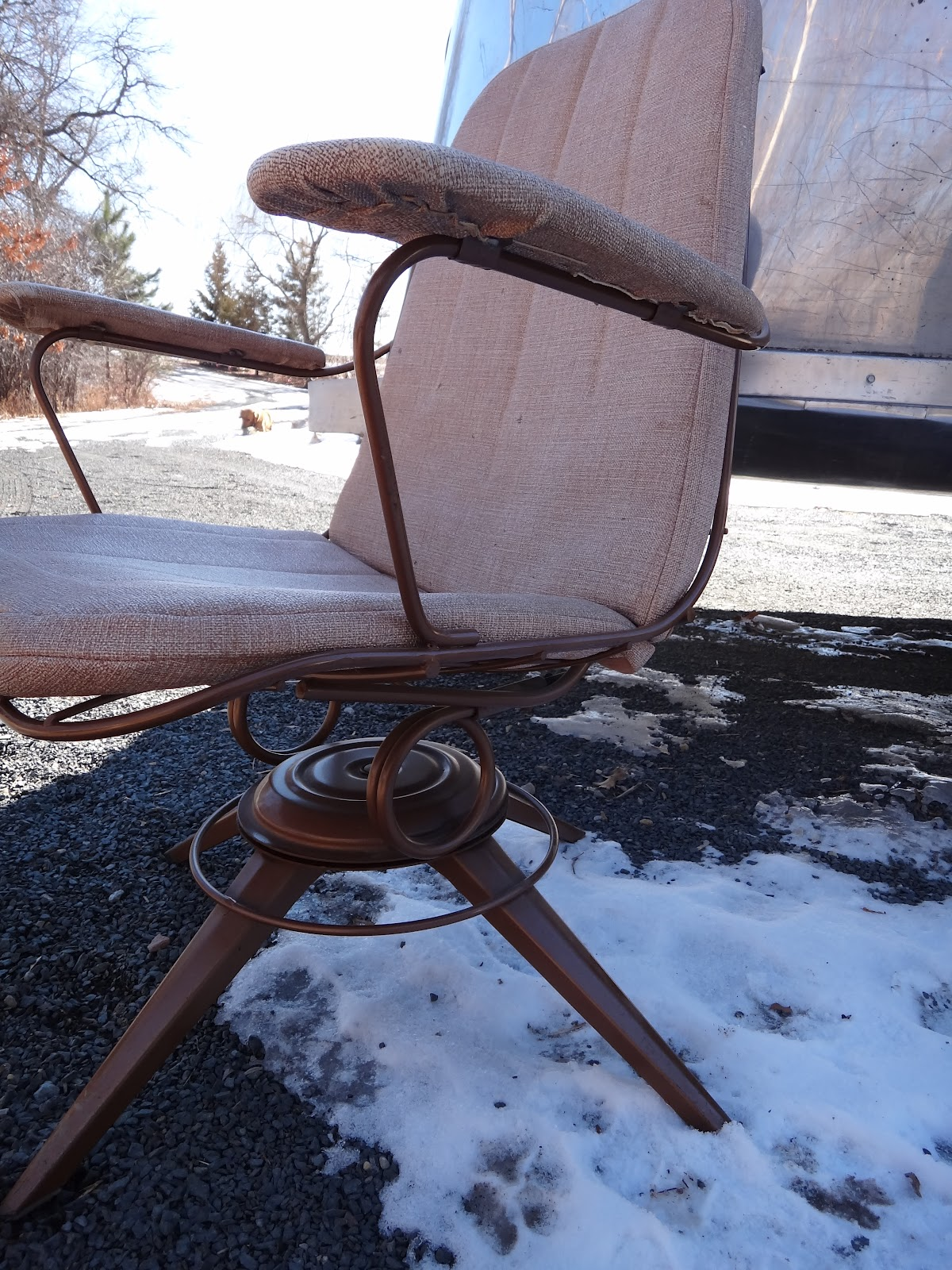 Rainy Creek Ranch Life Vintage Homecrest Chair For Airstream