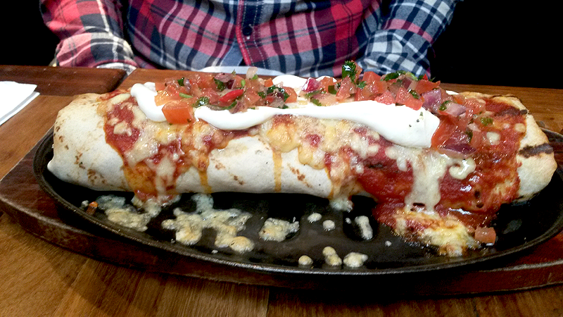 A very substantial burrito.
