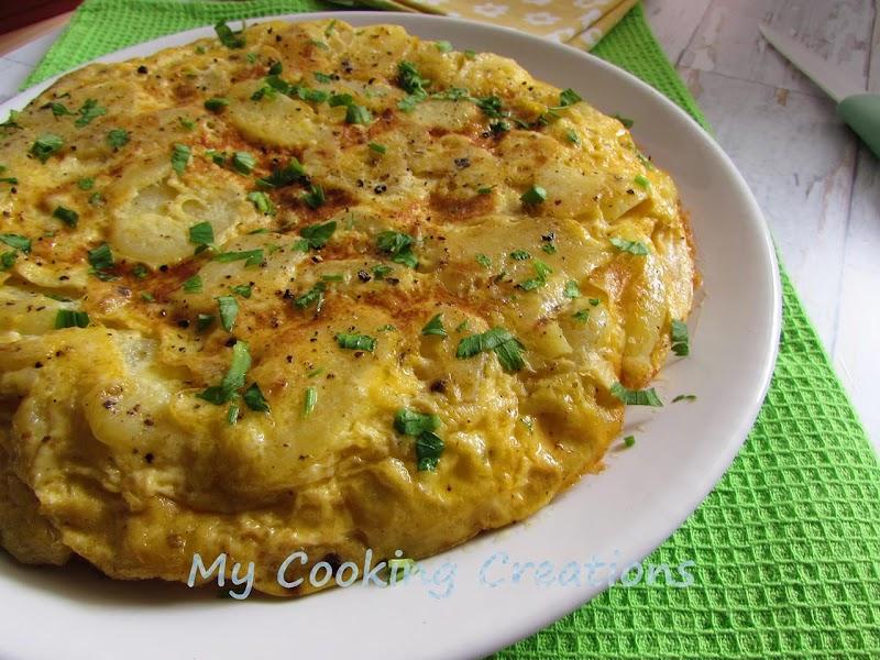 Класическа испанска тортия * Tortilla di patate spagnola