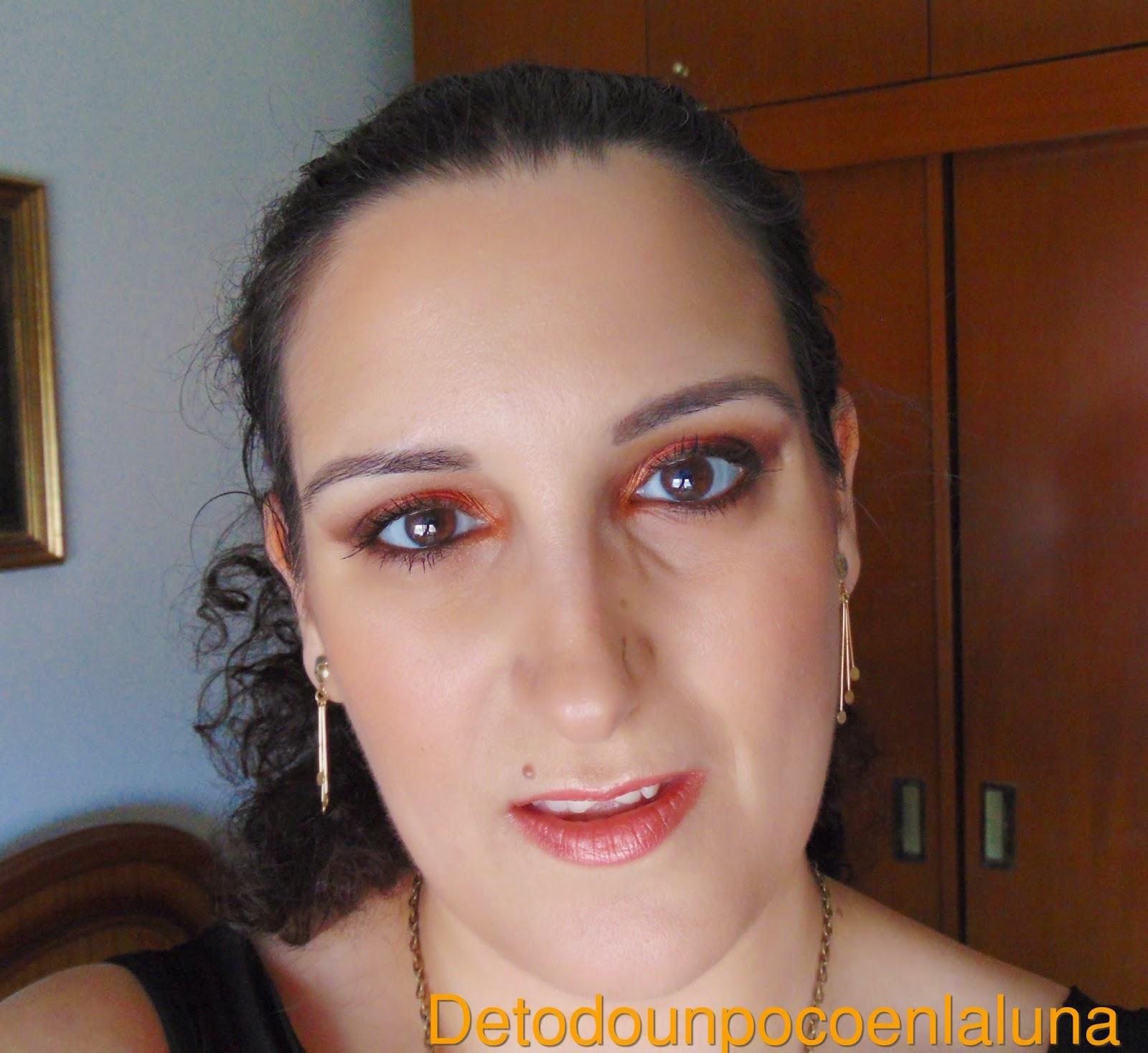 Look en tonos anaranjados con pigmentos