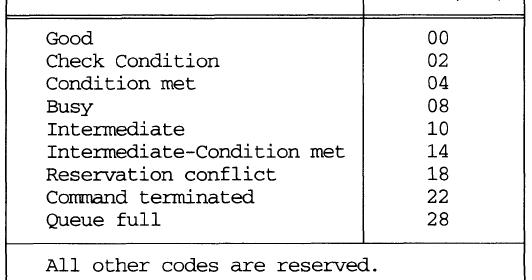 LAR-Bab Blog: SCSI: The Status and Sense Data