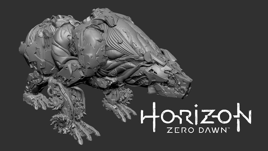 horizon zero dawn the frozen wilds fireclaw 3d