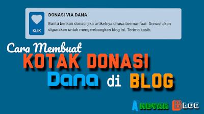 Cara Membuat Kotak Donasi Dana di Blog
