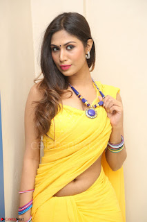 Nishigandha in Yellow backless Strapless Choli and Half Saree Spicy Pics 133.JPG