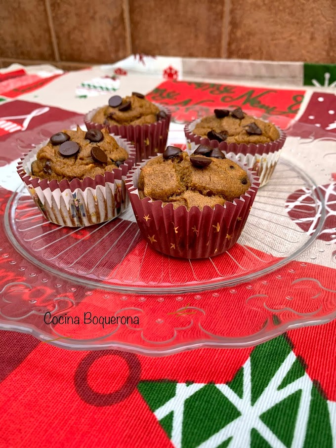 Magdalenas de boniato y chocolate