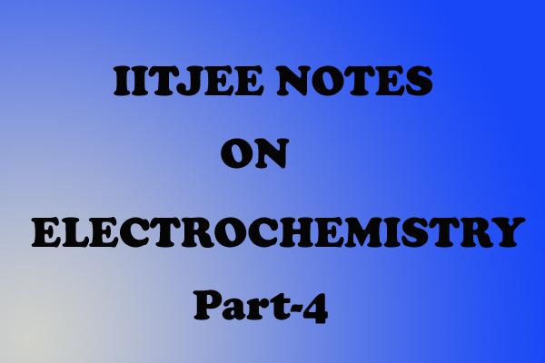 Electrochemistry chemistry