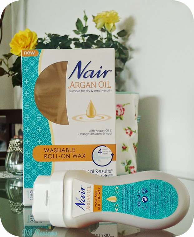 Nair Washable Roll-On Wax with Argan Oil & Orange Blossom Extract