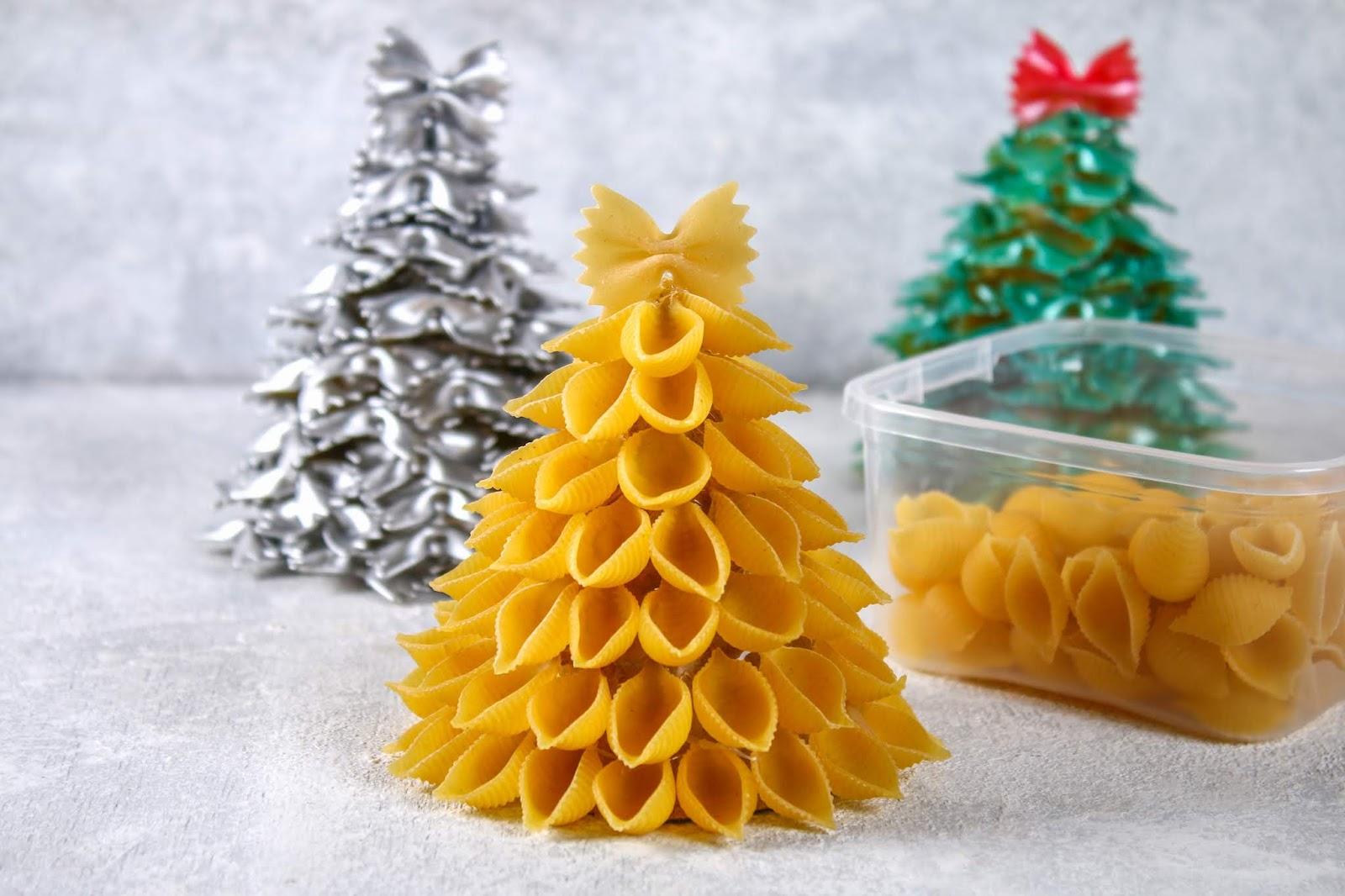 Manualidades navideñas con pasta