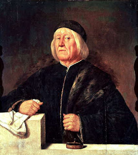 A portrait of Teofilo Folengo by Girolamo Romanino, owned by the Uffizi museum in Florence