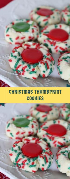 Christmas thumbprint cookies recipes