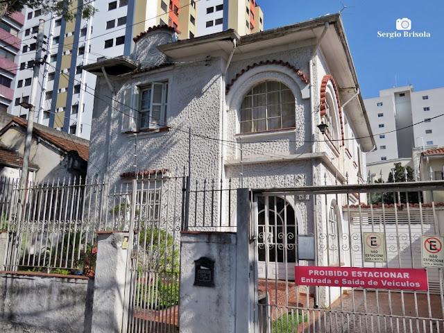 Vista de um Casarão antigo na Rua Veriano Pereira - Vila da Saúde - São Paulo