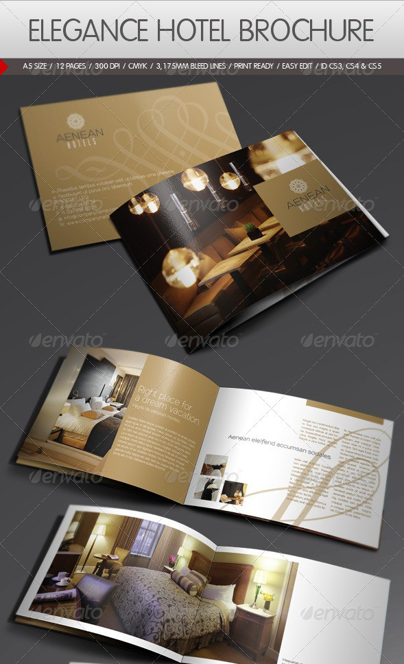100 Free Premium Brochure Templates Photoshop PSD InDesign AI – Hotel Brochure Template