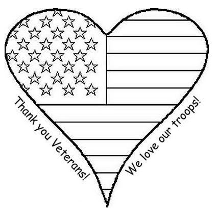 Veterans Day Coloring Pages Printable Thank You Sheets 2017