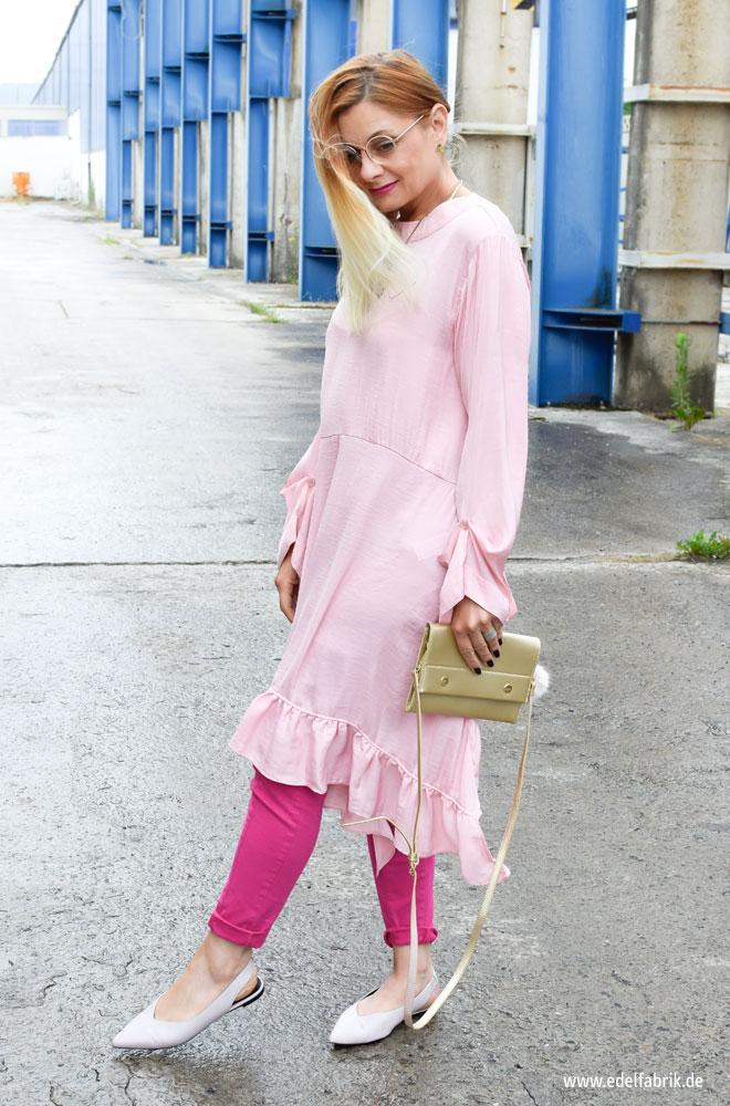 Colorblocking so kombinierst Du Rosa mit Pink
