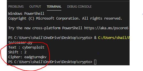 Caesar Cipher Encryption & Decryption in Python