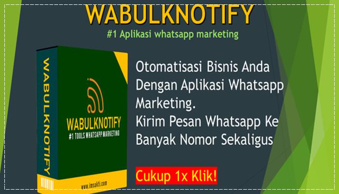 WABulkNotify - Tools Whatsapp Marketing