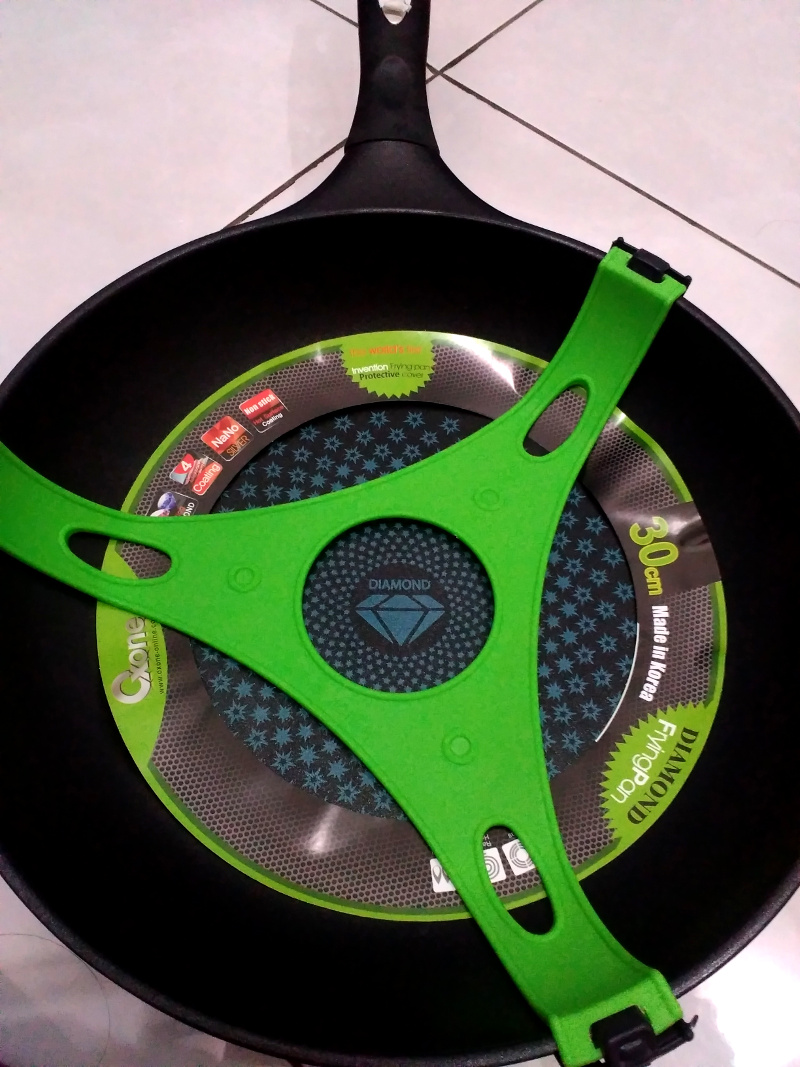 Lapisan Pelindung Oxone Fry Pan Diamond Coating