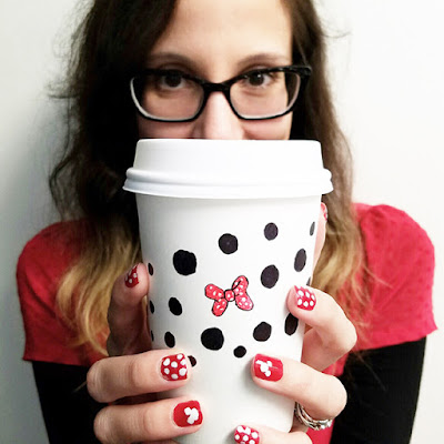 Rock the Dots- Minnie Mouse Polka Dot Nail Art