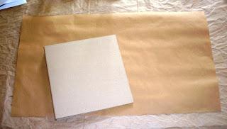 Packpapier für den Umschlag