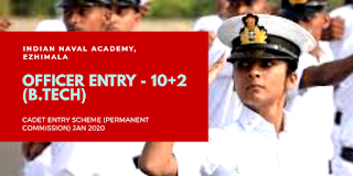 Indian Navy Invite Application for OFFICER ENTRY