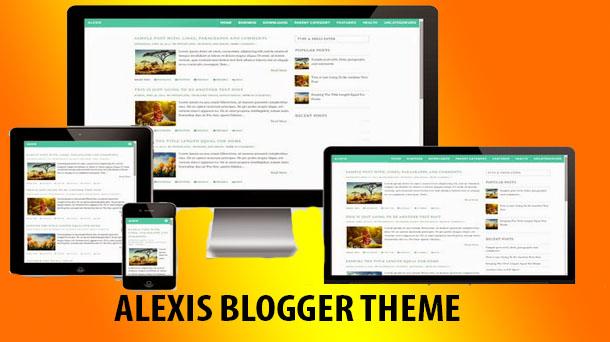 Alexis – Premium Blogger Theme   - Responsive Blogger Template