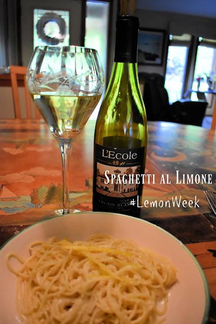 Spaghetti a Limone with Wine