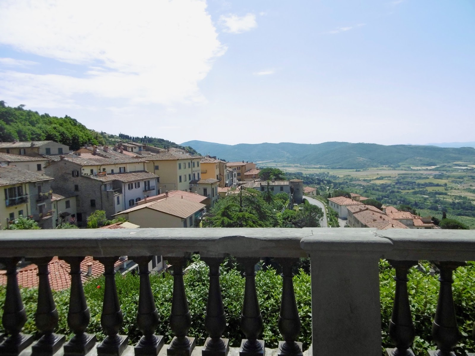 Rooftop view of Cortona in Italy