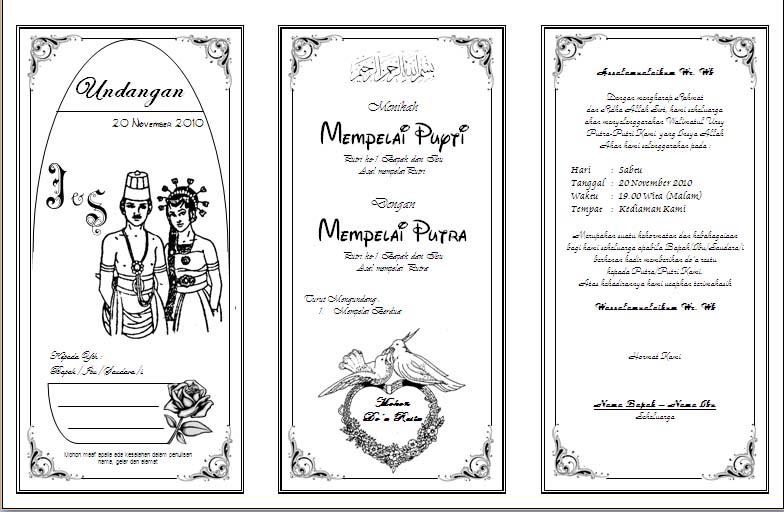 Cara membuat undangan pernikahan sederhana - Gudang Informasi