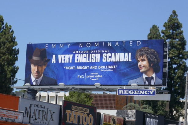 A Very English Scandal Emmy-nominated billboard