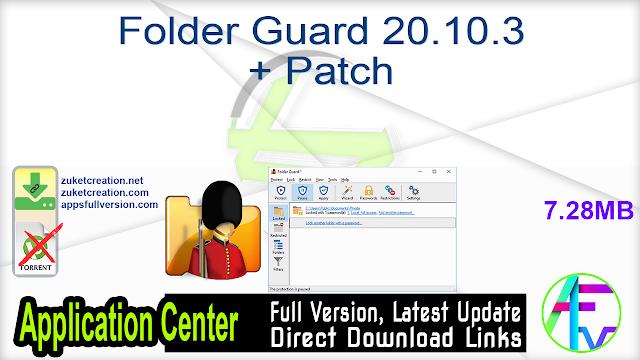 Folder Guard 20.10.3 + Patch