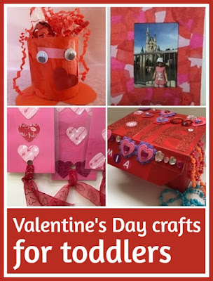 Valentine's Day crafts for toddlers and pre-schoolers