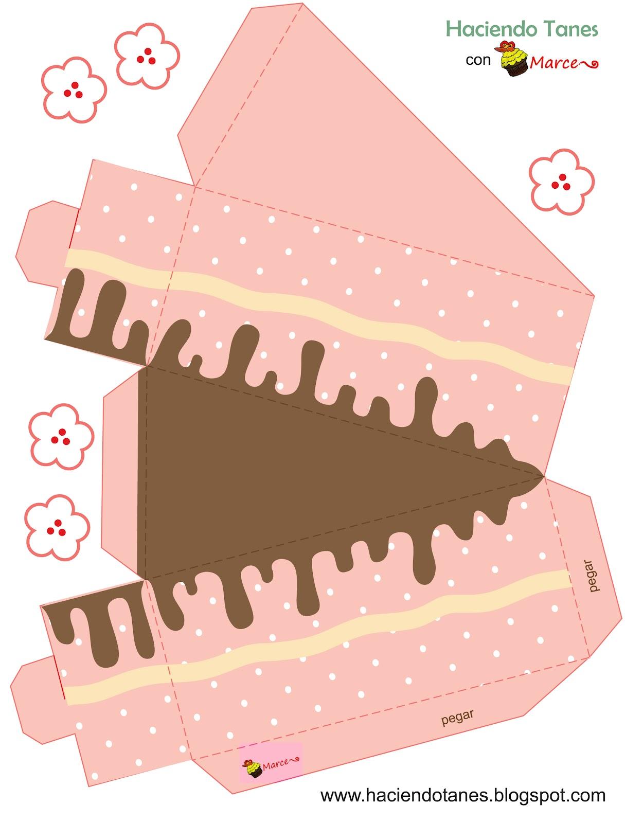 Haciendo tanes un lindo pastel de cart n - Como decorar un dibujo de una castana ...