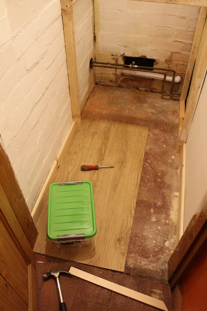 karndean floor in cupboard