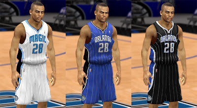 NBA 2K13 Orlando Magic 2013 Home, Away, Alternate Jersey Mod