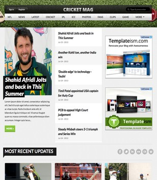 CRICKET MAG SPOT blogger theme download