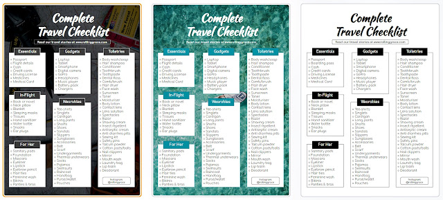 Create a custom packing list for travel