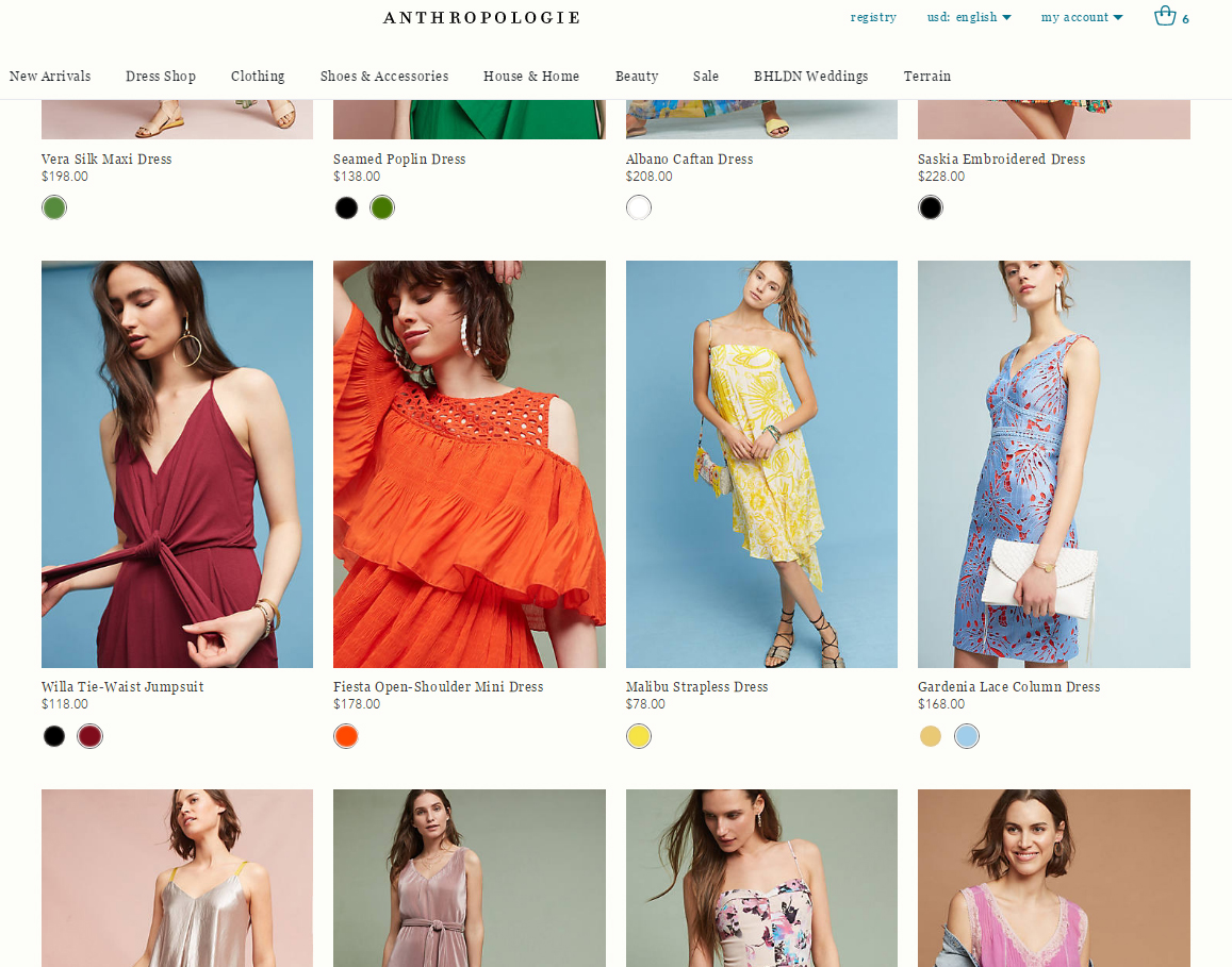 01607b61762a Anthropologie launches a dress promo and offers free shipping ...