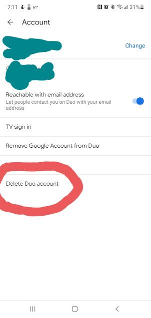 Google Duo Settings