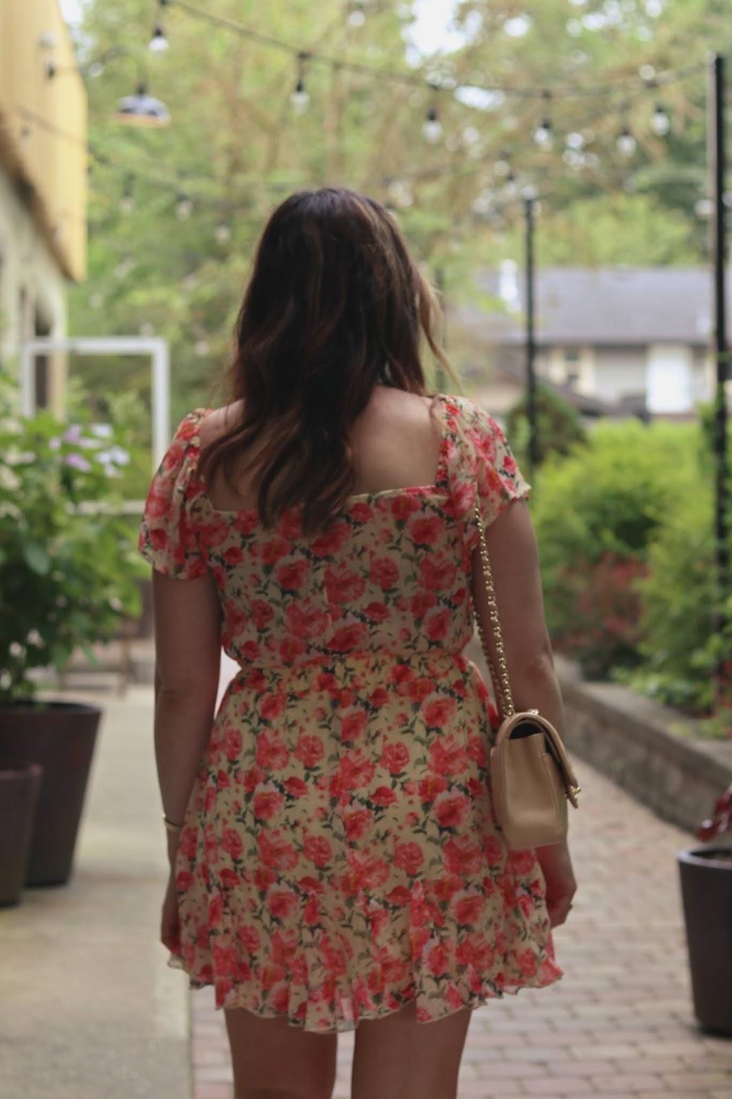 le chateau floral chiffon cute summer dress