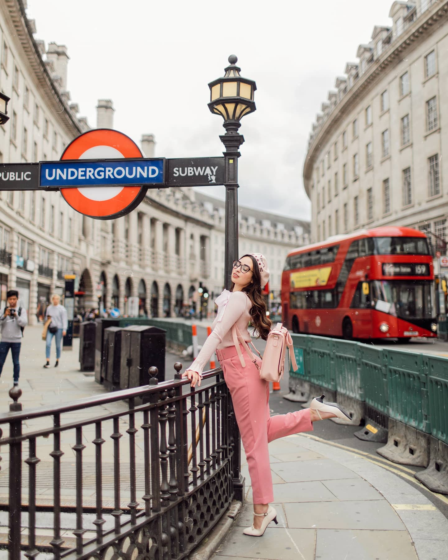 hello Miss Jordan Brown ecosusi Piccadilly Circus fashion photoshoot